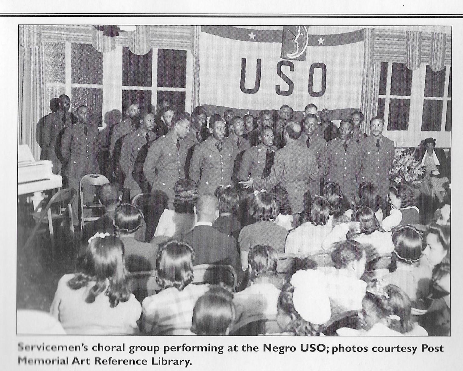Negro USO Choral group Joplin Souviner Book